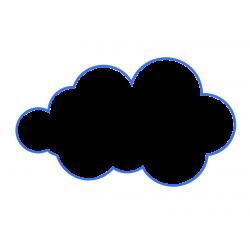 Diseñador forma nube-...
